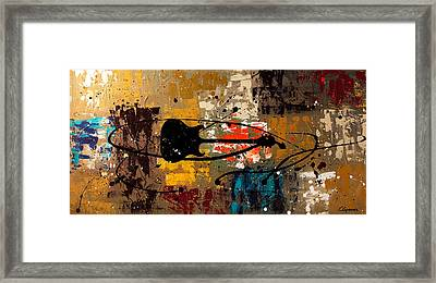 Be A Rock Star Framed Print by Carmen Guedez