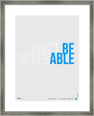 Be Able Poster Framed Print by Naxart Studio