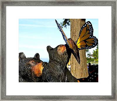 Framed Print featuring the photograph Be Careful Son by Rhonda McDougall