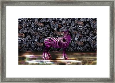 Be Courageous - Be Different - Zebra Framed Print by EricaMaxine  Price