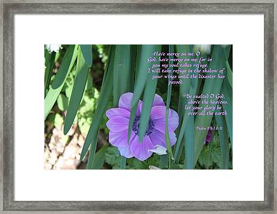 Be Exalted Oh God Framed Print by Carolyn Ricks