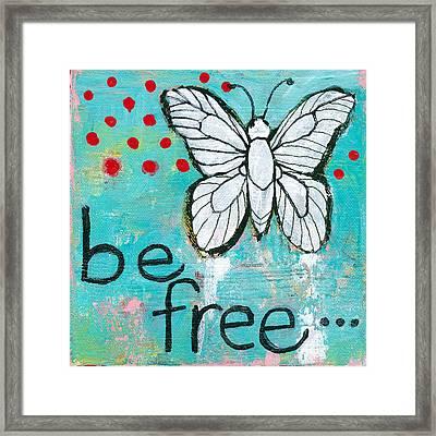 Be Free Framed Print by Blenda Studio