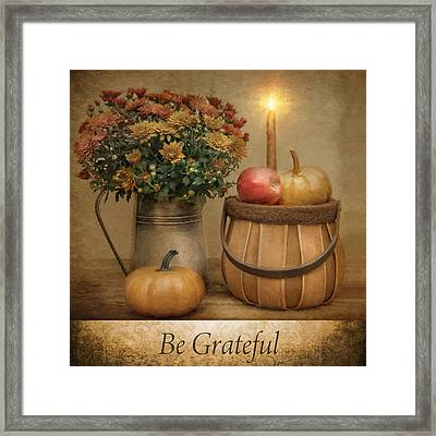 Be Grateful Framed Print