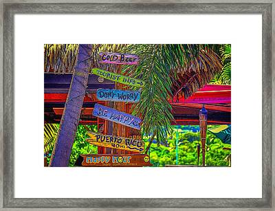 Be Happy Framed Print by Denise Darby