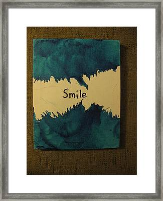Be Happy In A Stormy Sea Framed Print by Lawrence Christopher