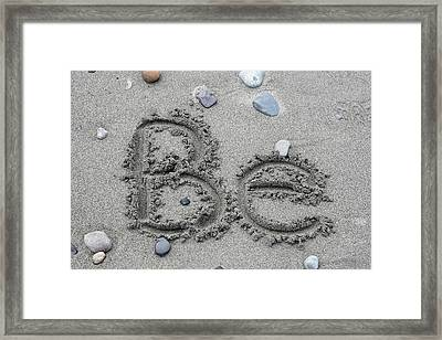 Be Framed Print