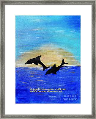Be Joyful In Hope Framed Print