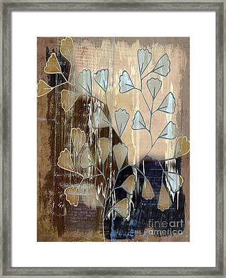 Be-leaf - Beige A05t3a Framed Print by Variance Collections