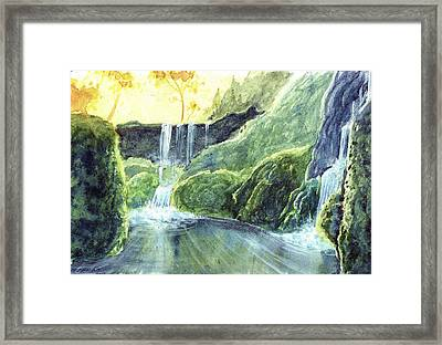 Be Like Water Framed Print by Brandon Unglaub