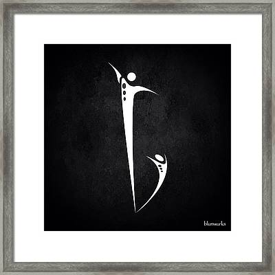 Be. Framed Print