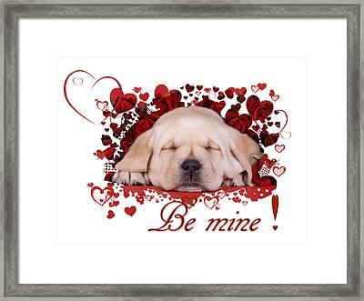 Be Mine Framed Print by Waldek Dabrowski