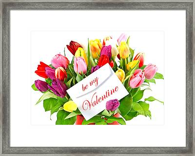 Be My Valentine Framed Print by Boon Mee