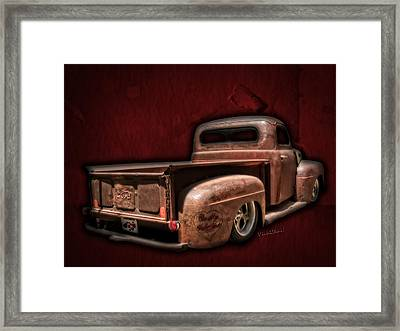 Be My Valentine On The Rat Rod Of Love Framed Print