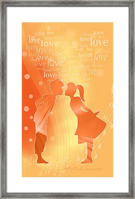 Be My Valentine Framed Print by Gayle Odsather