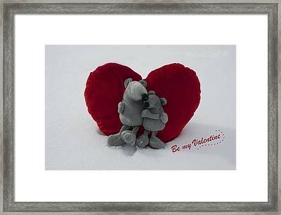 Be My Valentine  Framed Print by Nicole Markmann Nelson