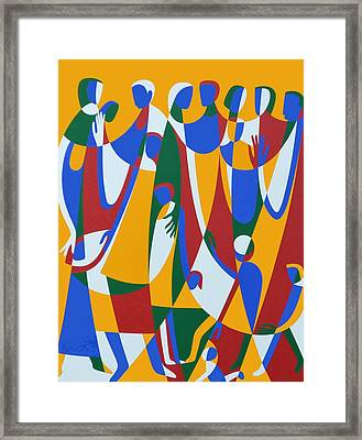 Be Patterns, Be Examples, 1998 Acrylic On Board Framed Print by Ron Waddams