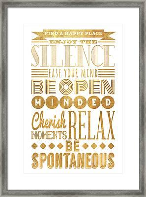 Be Spontaneous Framed Print by South Social Studio