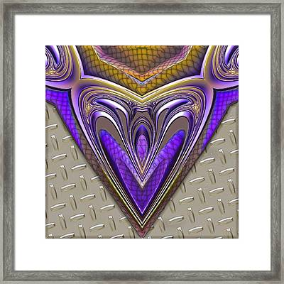 Be Steel My Heart Framed Print