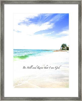 Framed Print featuring the photograph Be Still #3 by Margie Amberge