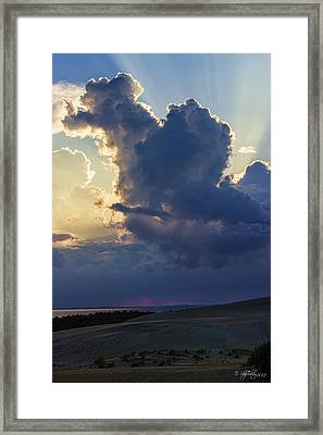 Be Still And Know That I Am God Framed Print by Skip Tribby