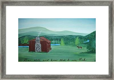 Be Still Framed Print by Melanie Blankenship