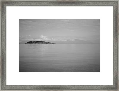 Be Still My Ocean  Framed Print by Roxy Hurtubise