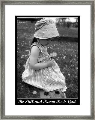 Be Still  Framed Print by Stephanie Grooms