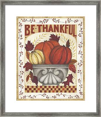Be Thankful Framed Print by Cindy Shamp