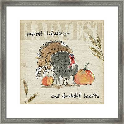Be Thankful II Framed Print by Anne Tavoletti
