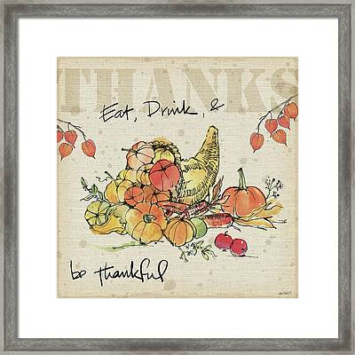 Be Thankful IIi Framed Print by Anne Tavoletti