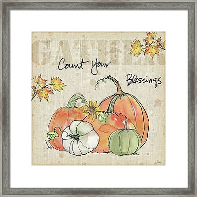 Be Thankful Iv Framed Print by Anne Tavoletti