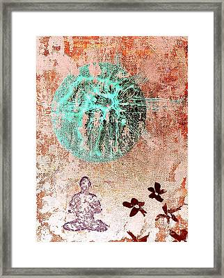 Framed Print featuring the painting Be The Buddha by Jacqueline McReynolds