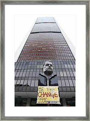 Be The Change Framed Print by Valentino Visentini