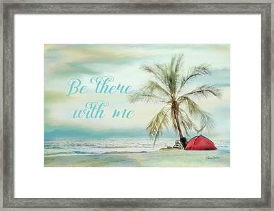 Be There Beach II Framed Print by Ramona Murdock