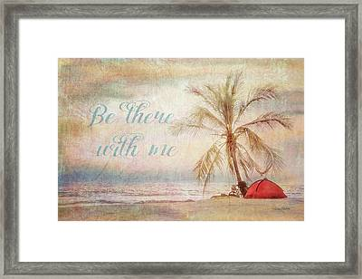 Be There Beach Framed Print by Ramona Murdock
