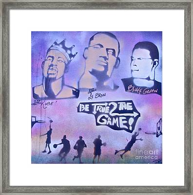 Be True 2 The Game 1 Framed Print by Tony B Conscious