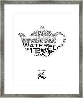 Be Water Bruce Lee Framed Print