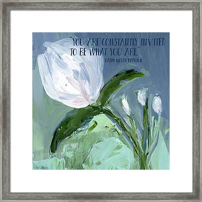 Be What You Are Framed Print by Pamela J. Wingard