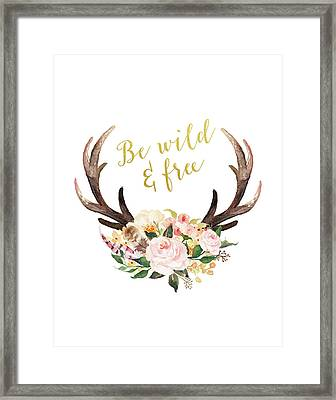 Be Wild And Free Framed Print
