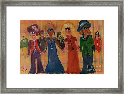 Be Yourself Be Proud Be Friendly Framed Print by Rachel Carmichael