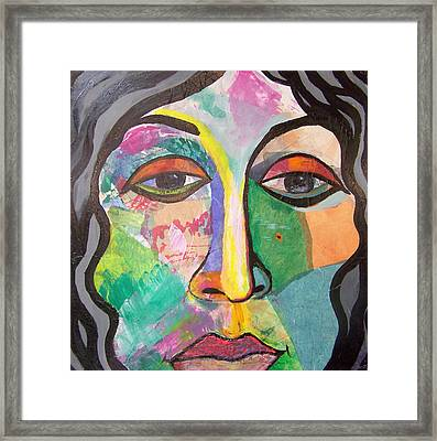 Beaatrice Framed Print by MtnWoman Silver