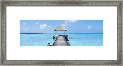 Beach & Pier The Maldives Framed Print by Panoramic Images