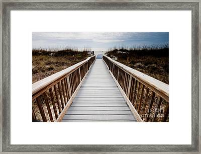 Beach Access Hilton Head Framed Print