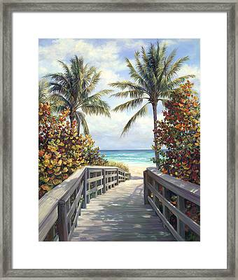 Beach Access Framed Print by Laurie Hein