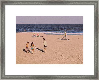 Beach Activities Framed Print
