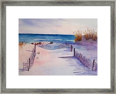 Beach Afternoon Framed Print
