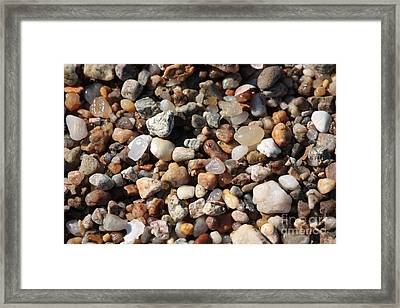 Beach Agates Framed Print by Carol Groenen