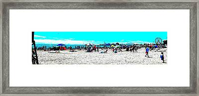 Beach And Carnival Framed Print