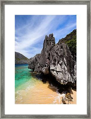 Beach And Rocks  Framed Print by Fototrav Print
