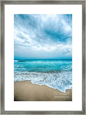 Framed Print featuring the photograph Beach And Waves by Yew Kwang